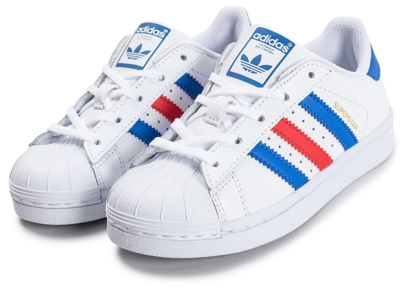 48cced8f5df Promotion de groupe adidas superstar femme bleu blanc rouge.Dédié à ...