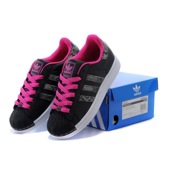 adidas superstar femme rose et noir