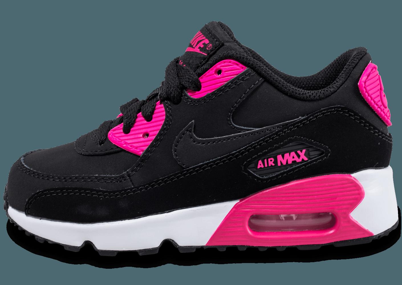 EQ145847 Nike Air Max 95 Air Max Air Max Noir Rose Fille Et