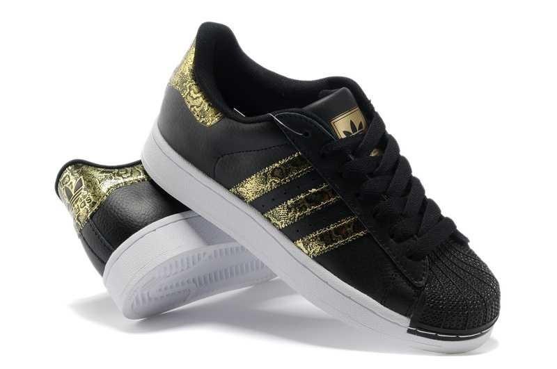 chaussure adidas noir et doré